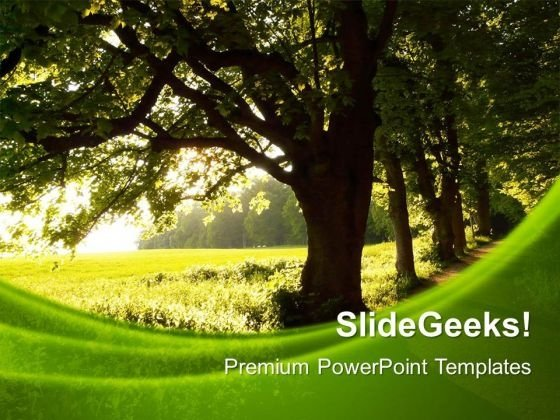 Green Nature Environment PowerPoint Templates And PowerPoint Themes