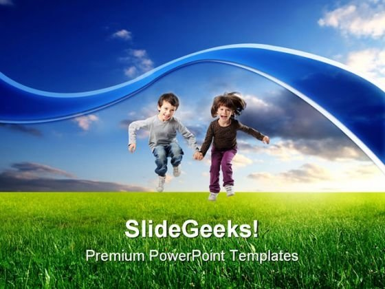 Jump Children PowerPoint Templates And PowerPoint Backgrounds 0211