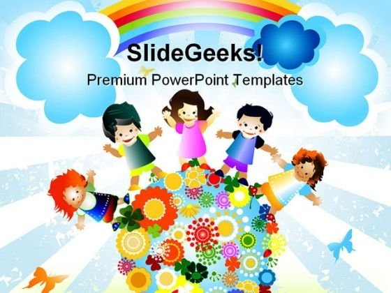 Kids Diversity Globe PowerPoint Template 0610 - PowerPoint Themes