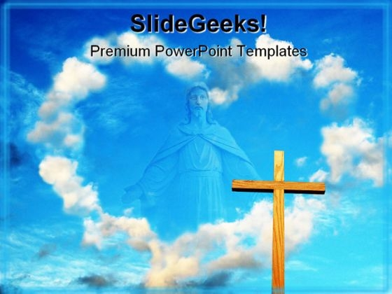 Clouds PowerPoint templates, Slides and Graphics - religious powerpoint template