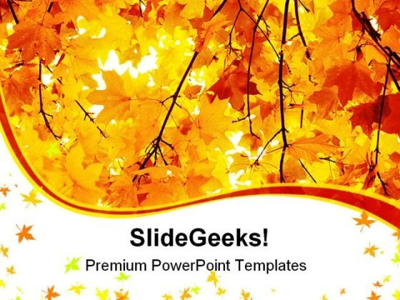 Maple In Autumn Forest Nature PowerPoint Templates And PowerPoint