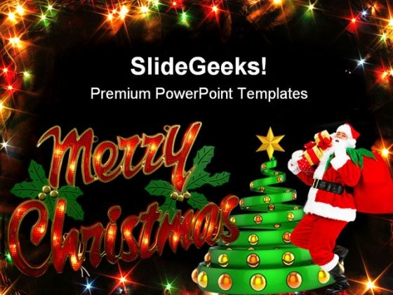 Merry Christmas Festival PowerPoint Templates And PowerPoint