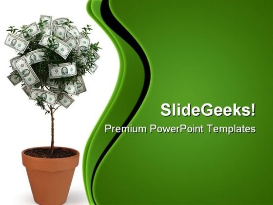 Money Plant Future PowerPoint Templates And PowerPoint Backgrounds - money background for powerpoint