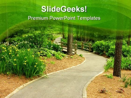Path Nature PowerPoint Templates And PowerPoint Backgrounds 0711