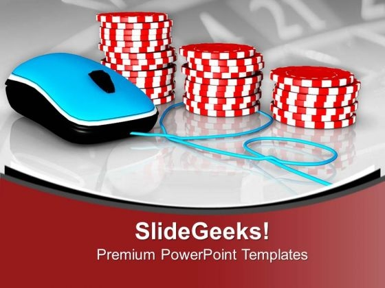 Play Online Poker Game PowerPoint Templates Ppt Backgrounds For