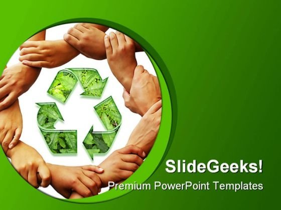 Recycle01 Environment PowerPoint Template 1110 - PowerPoint Themes