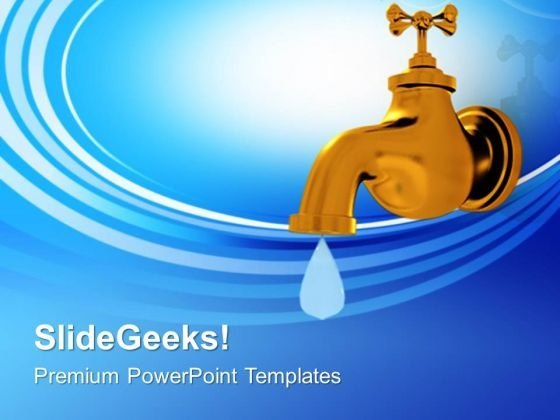 Concept of the importance of water PowerPoint templates, Slides and - water powerpoint template