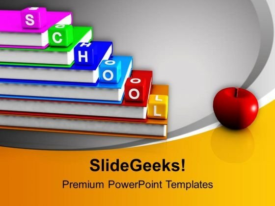 School Blocks And Books Education PowerPoint Templates Ppt - ppt background school