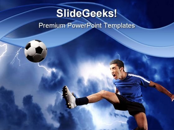 Soccer Player Sports PowerPoint Template 0810 - PowerPoint Themes - sports background for powerpoint