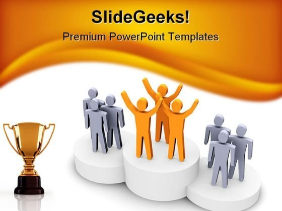 Winning Team Competition PowerPoint Template 0810 - PowerPoint Themes