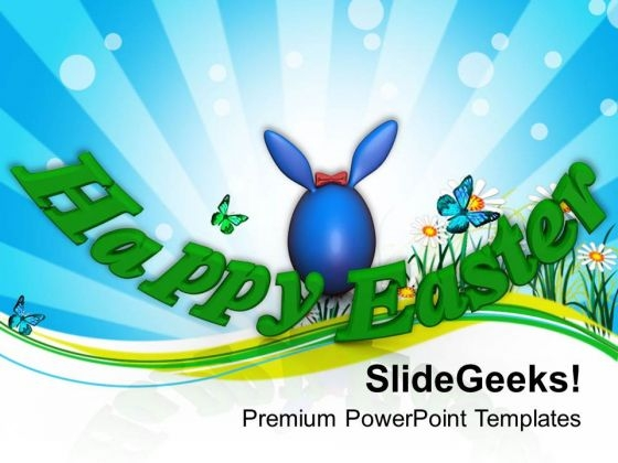 Wish Your Friends Happy Easter PowerPoint Templates Ppt Backgrounds