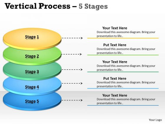 Business Diagram Vertical Process 5 Stages Diagram Consulting