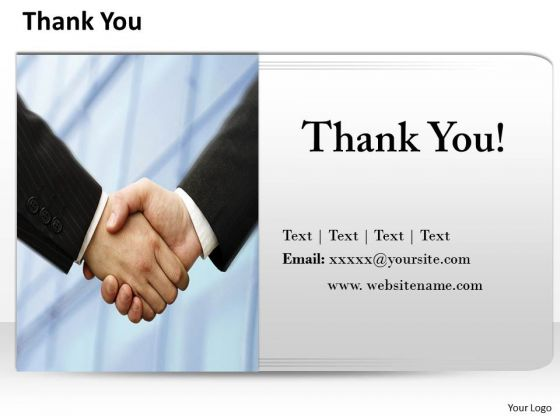 Business Finance Strategy Development Thank You Slide With Contact