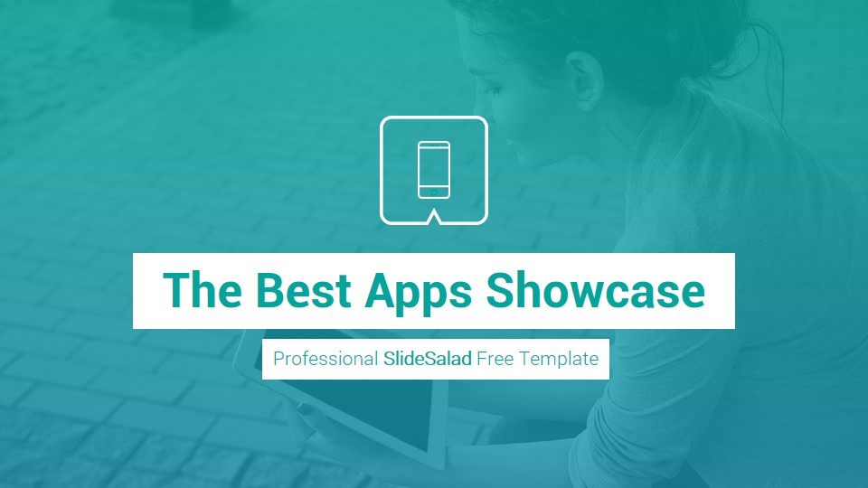 Mobile Apps Free PowerPoint Presentation Template - SlideSalad