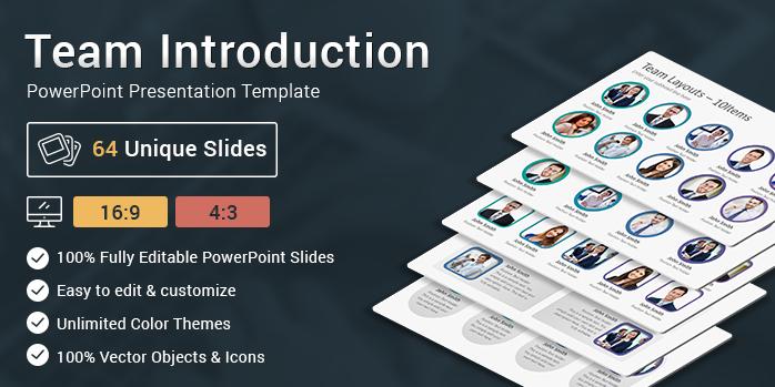 Team Introduction Slides PowerPoint Presentation Template - SlideSalad