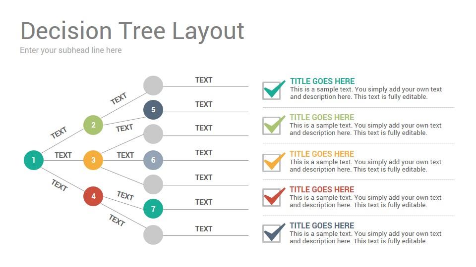 Decision Trees Diagrams Keynote Template - SlideSalad