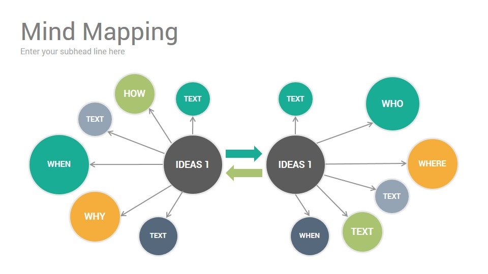 Mind Mapping Diagrams Keynote Template - SlideSalad