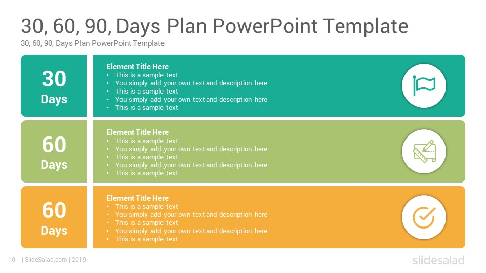 30 60 90 Days Plan Google Slides Template - SlideSalad