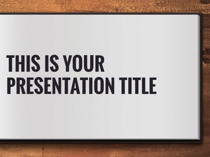 Free Powerpoint template or Google Slides theme with open book design
