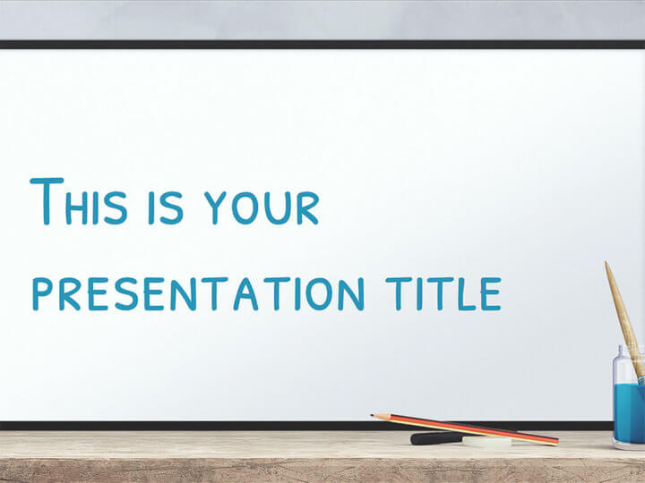Free Powerpoint template or Google Slides theme with whiteboard