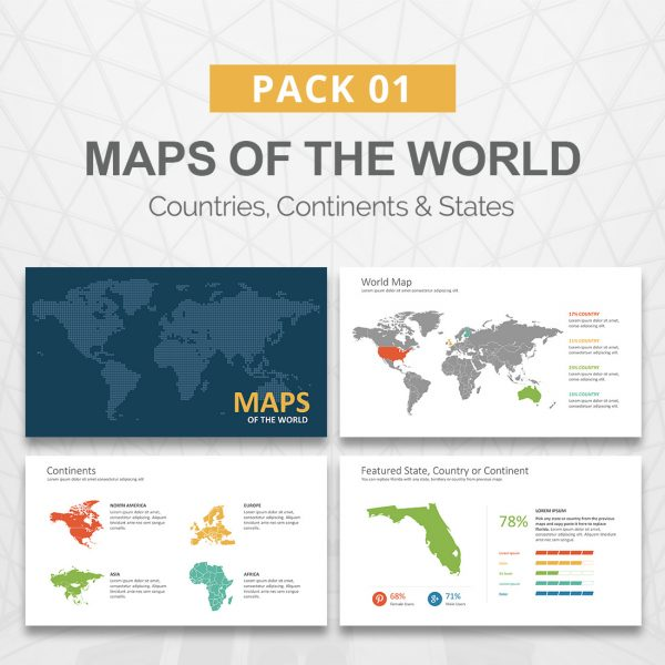 Maps for PowerPoint Presentation - Maps of the World - Slideson