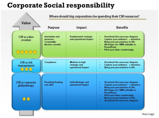corporate social responsibility in business essay Essay corporate social responsibility - hilton corporate social responsibility corporate social responsibility (csr, also called corporate conscience, corporate citizenship, social performance, or sustainable responsible business/ responsible business) is a form of corporate self- regulation integrated into a business model.