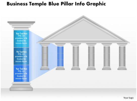 0914 Business Plan Business Temple Blue Pillar Info Graphic