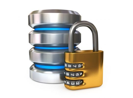 Case Study Writing Dos And Donts Premium Ms Office 0914 Database Icon With Combination Lock For Security