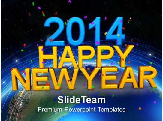 Happy new year powerpoint template colbro 2014 happy new year powerpoint templates ppt backgrounds for slides toneelgroepblik Images