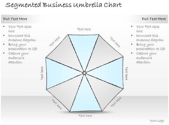2502 business ppt diagram segmented business umbrella chart