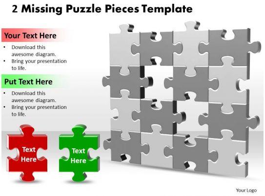 2 Puzzle Pieces Template - puzzle pieces template