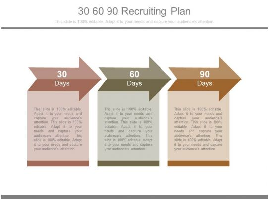 30 60 90 Recruiting Plan Powerpoint Templates PowerPoint Templates