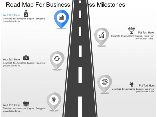 a Roadmap For Business Success Milestones Powerpoint Template