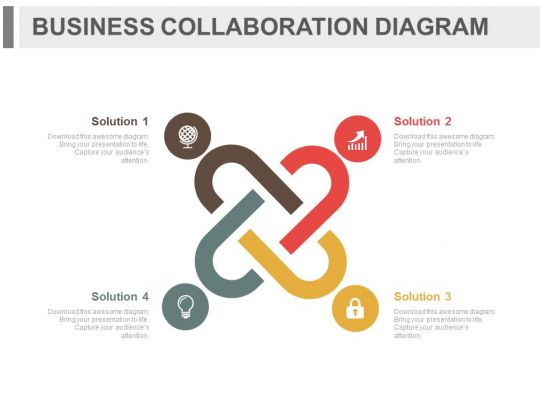 Economics Case Studies Case Studybusinessmanagement App Four Staged Business Collaboration Diagram Flat