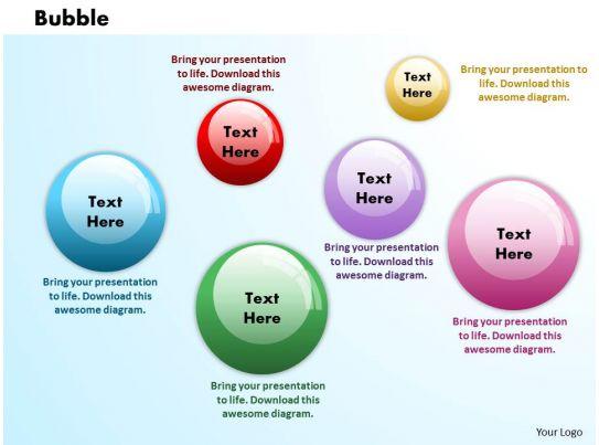 Bubbles PowerPoint Template Slide 1 Presentation PowerPoint Images