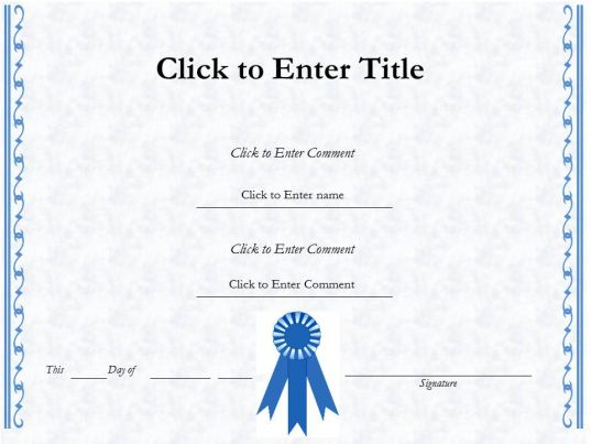 College Graduation diploma Certificate Template of Completion - powerpoint certificate template