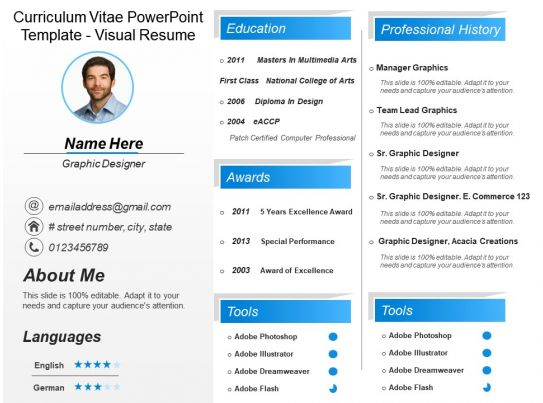 visual resume powerpoint templates free download