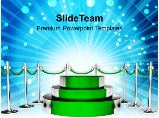 Green Podium For Winner Competition Powerpoint Templates Ppt Themes
