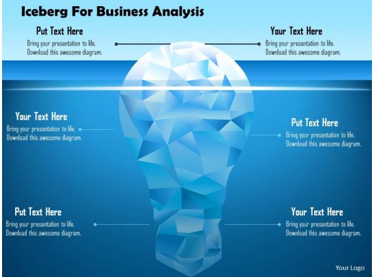 Iceberg For Business Analysis Powerpoint Template Graphics