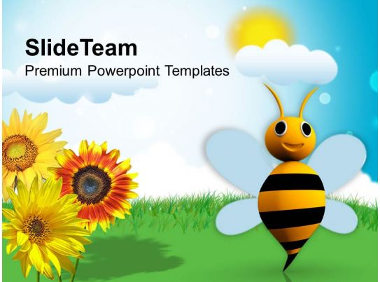 Illustration Of Bright Sunny Day PowerPoint Templates PPT Themes And