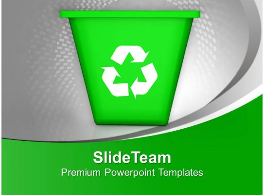 Illustration Of Recycling Symbol With Bin PowerPoint Templates PPT - recycling powerpoint templates