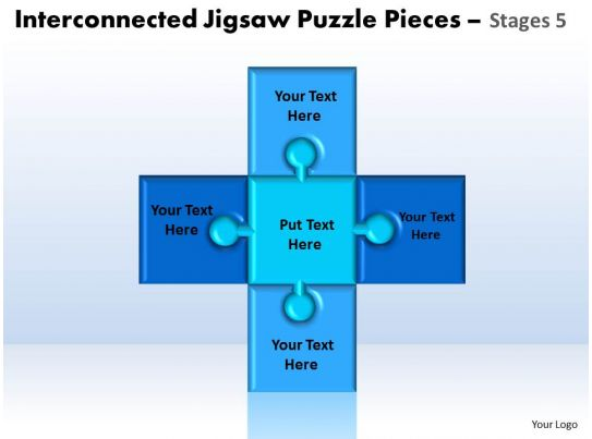 interconnected jigsaw puzzle pieces stages 5 powerpoint templates - puzzle powerpoint template