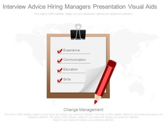 interview advice hiring managers presentation visual aids