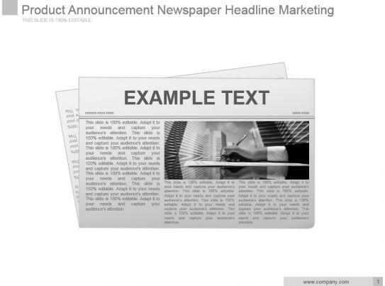 News PowerPoint Templates News Presentation Slides PPT - newspaper headline template
