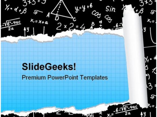 Algebra Education PowerPoint Backgrounds And Templates 0111