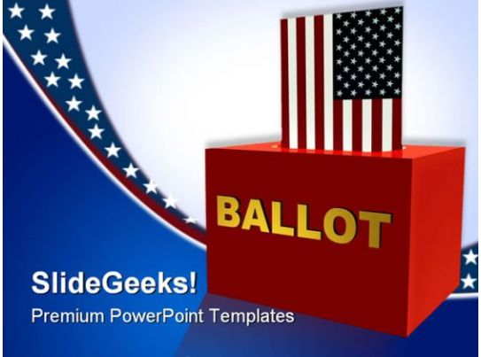 American Ballot Box Government PowerPoint Templates And PowerPoint