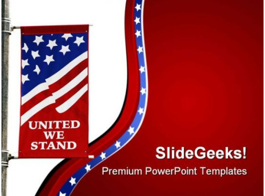 Americana Flag Government PowerPoint Templates And PowerPoint