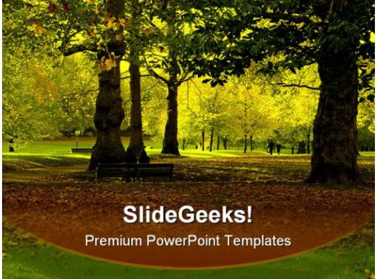 Autumn Park Nature PowerPoint Templates And PowerPoint Backgrounds