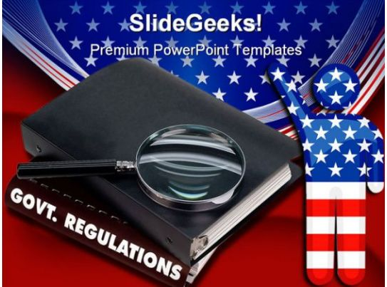 Government Regulations America PowerPoint Template 0610 PowerPoint