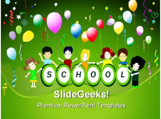 School Party Children PowerPoint Backgrounds And Templates 1210 - ppt background school